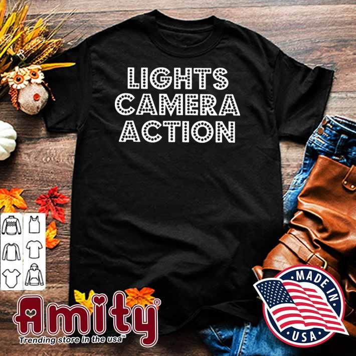 Filmmaker filmmaking lights camera action shirt