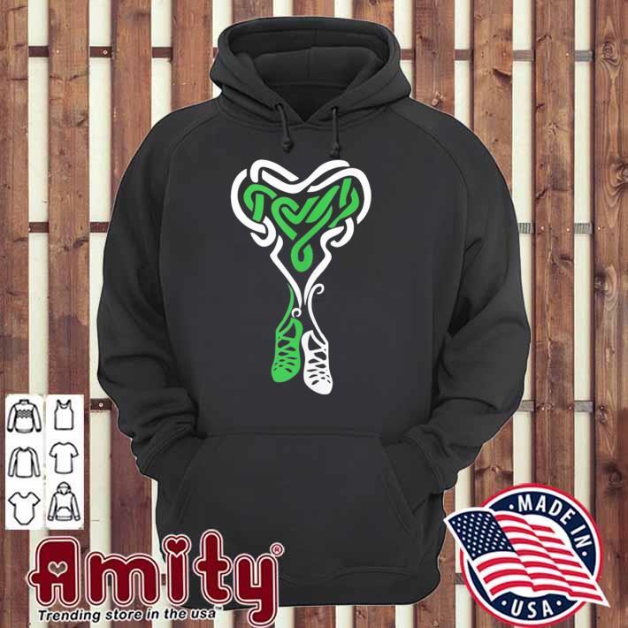 Irish step dancing celtic knot heart tank top hoodie