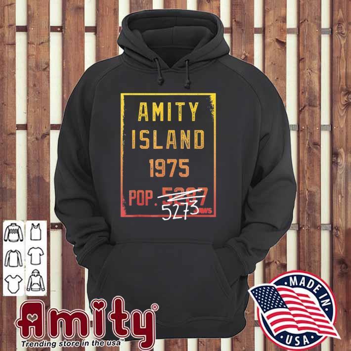 Jaws amity island 1975 population graphic hoodie