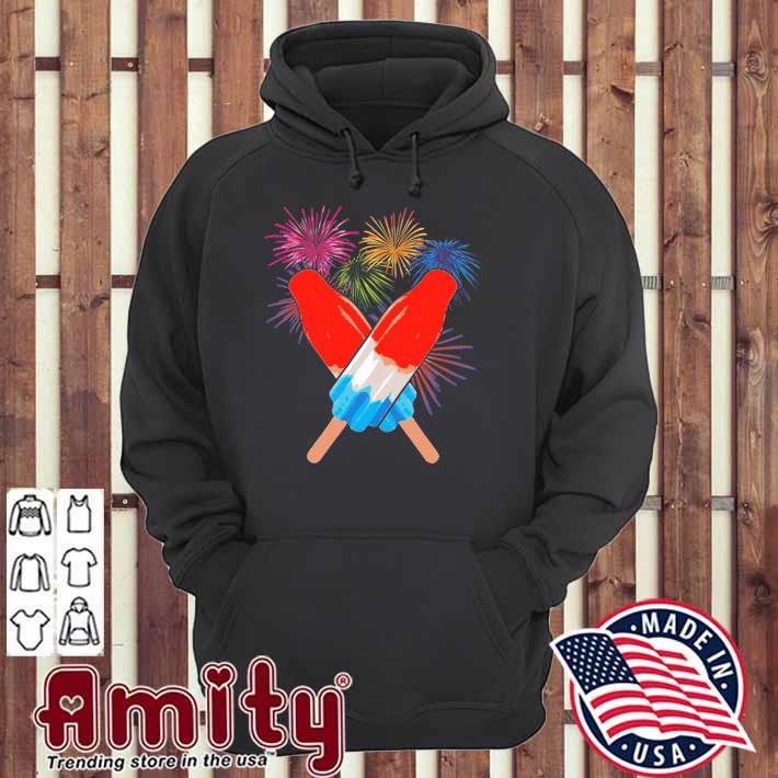 Memorial day 4th of july holiday patriotic rocket pop hoodie