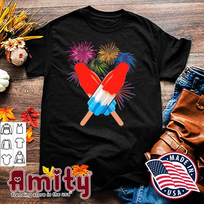 Memorial day 4th of july holiday patriotic rocket pop shirt