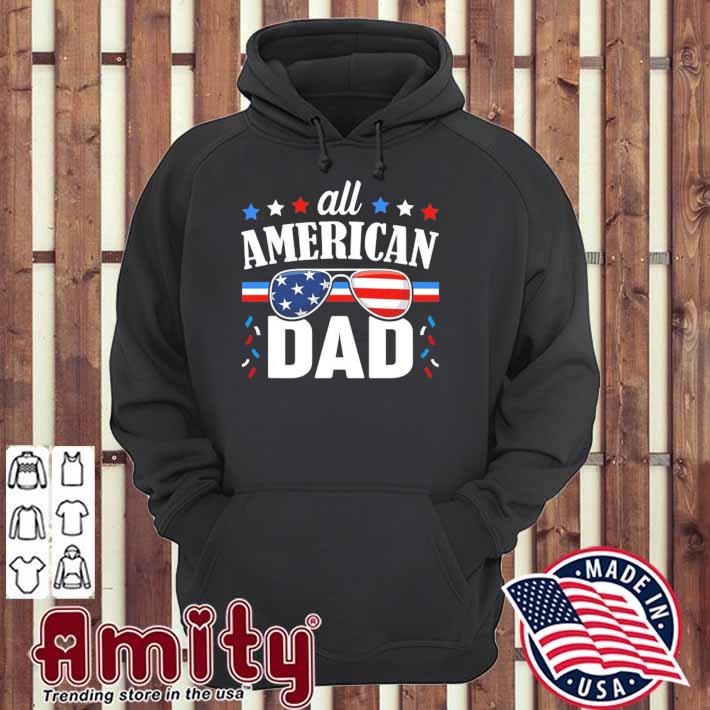 Mens all American dad 4th of july usa family matching outfit hoodie