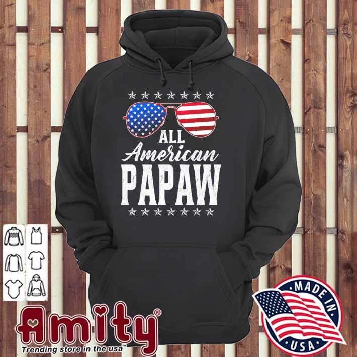 Mens all American papaw 4th of july fathers day papaw gift hoodie