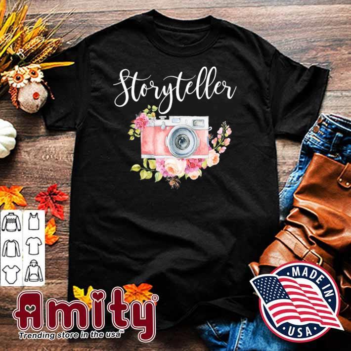 Photographer gif for women storyteller camera flowers shirt