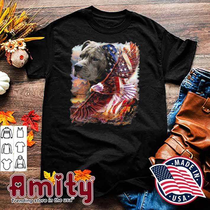 Pitbull American patriot eagle independence day shirt