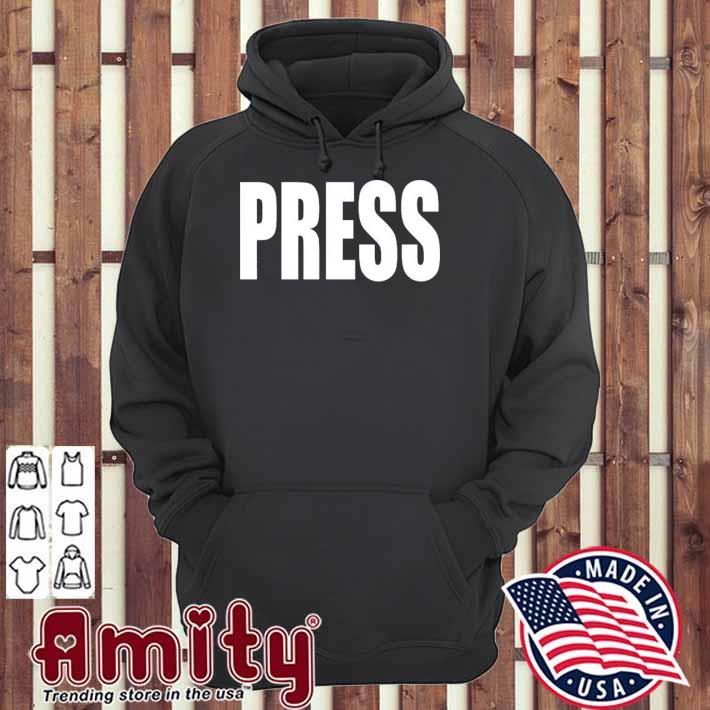 Press news journalist reporter camera hoodie