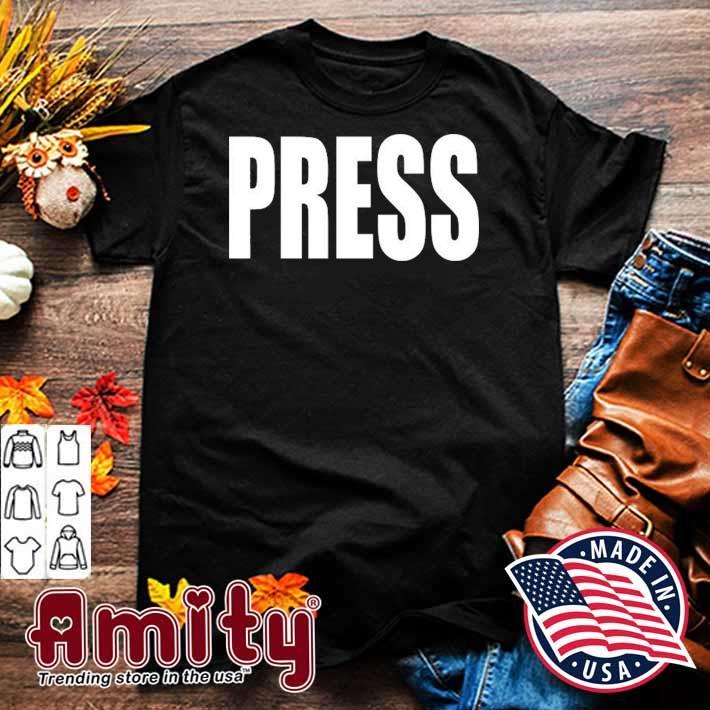 Press news journalist reporter camera shirt